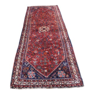"Vintage Turkish Ori̇ental Hand Made Rug - 3'9"" x 10'7"""