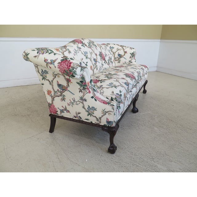 1990s Vintage Hancock & Moore Claw Foot Camelback Sofa For Sale In Philadelphia - Image 6 of 13