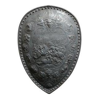 19th century Gothic Heavy Metal Wall Shield