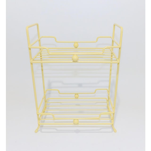 20th Century Comtemporary Yellow Strawflower Metal Rack For Sale - Image 4 of 6