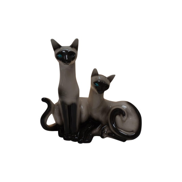Siamese Cats TV Lamp From Lane & Co Van Nuys - Image 1 of 5