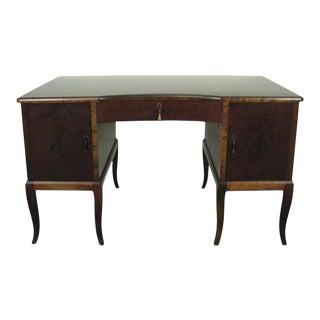 Swedish Art Deco Neoclassical Inlaid Writing Desk For Sale