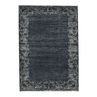 Contemporary Hand Woven Rug - 4'3 x 5'11 For Sale