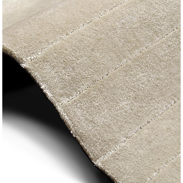 White Garden Neutral Rug From Covet Paris For Sale - Image 4 of 7