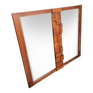 Lane Furiture Company Vintage Brutalist Mirror