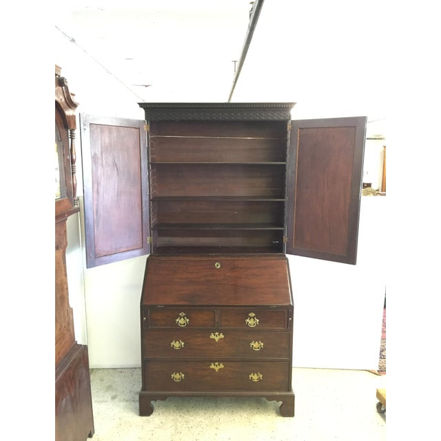 Early 19th C. English Mahogany Bureau Bookcase For Sale In Tampa - Image 6 of 9