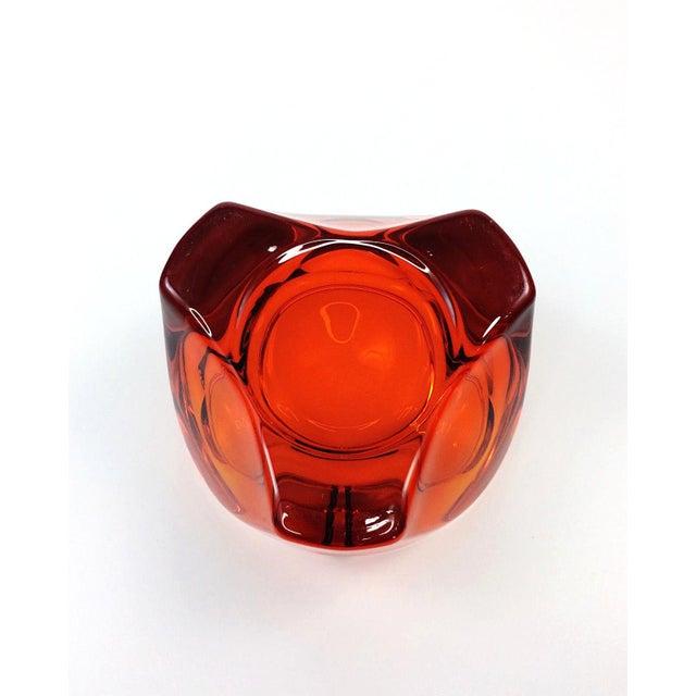 Mid Century Viking Art Glass Orange Orb Ashtray - Image 5 of 5
