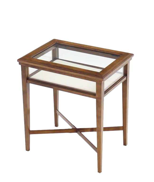Bon Small Lift Top End Table Display Case For Sale