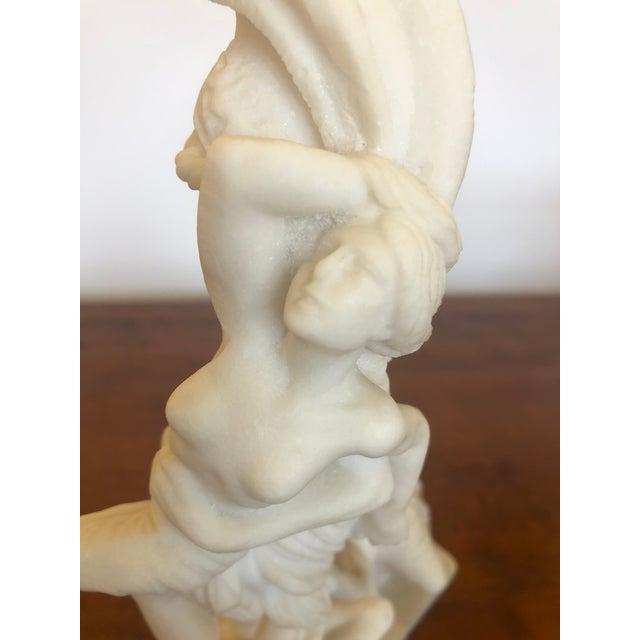 Antique Parian Porcelain Sculpture of Intertwined Mythological Figures For Sale - Image 9 of 11