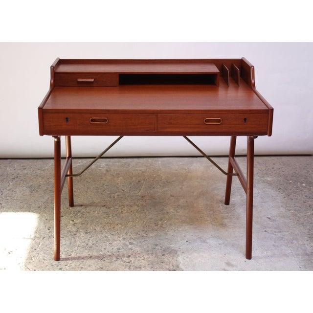 Teak and Brass 'Ladies' Desk by Arne Wahl Iversen - Image 2 of 13
