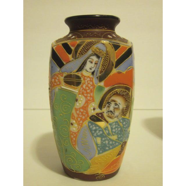 Vintage Japanese Satsuma Vases - Set of 3 - Image 3 of 10