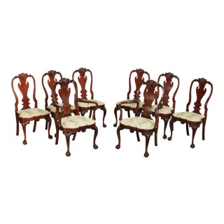 Kindel Winterthur Collection Set 8 Dining Chairs For Sale