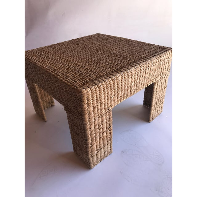 Mario Lopez Torres Woven Parsons Table For Sale In Los Angeles - Image 6 of 7