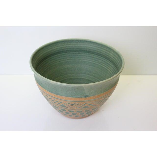 Art Nouveau Vintage Mid Century Endleman Pottery Planter For Sale - Image 3 of 6