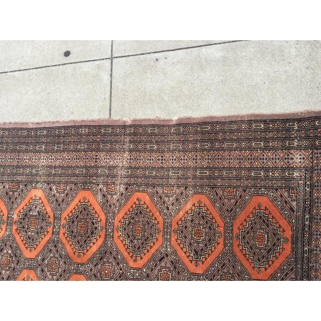 Distressed Vintage Persian Bokhara Rug - 6′ × 4′2″ - Image 6 of 10