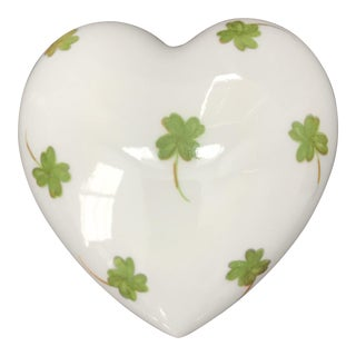 Early 20th Century Antique Charmart Limoges Shamrock Trinket Box For Sale