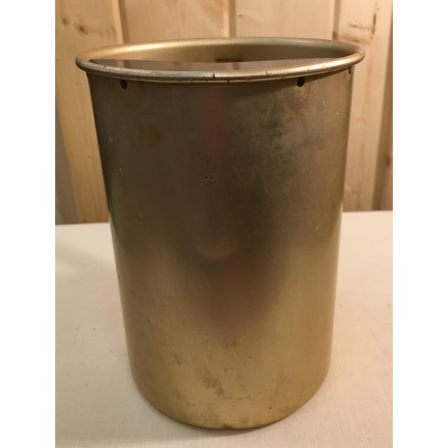 Mid 20th Century Mid-Century Gold Aluminum Pitcher For Sale - Image 5 of 8