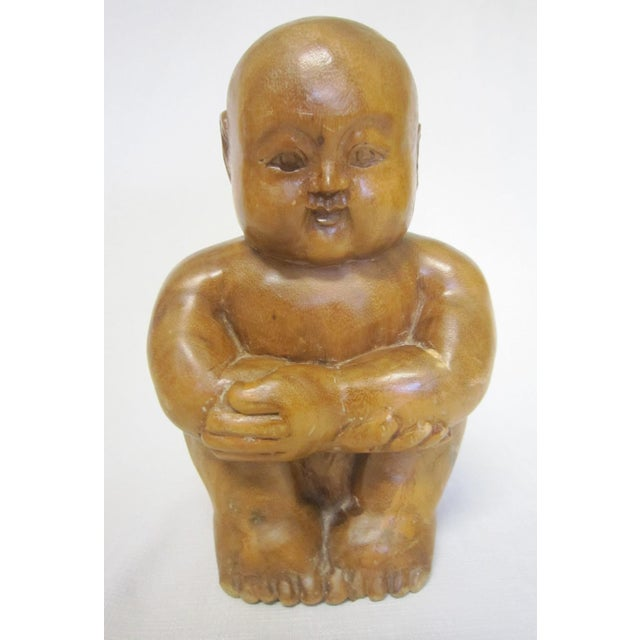 Chinese Wood Figure - Image 2 of 6