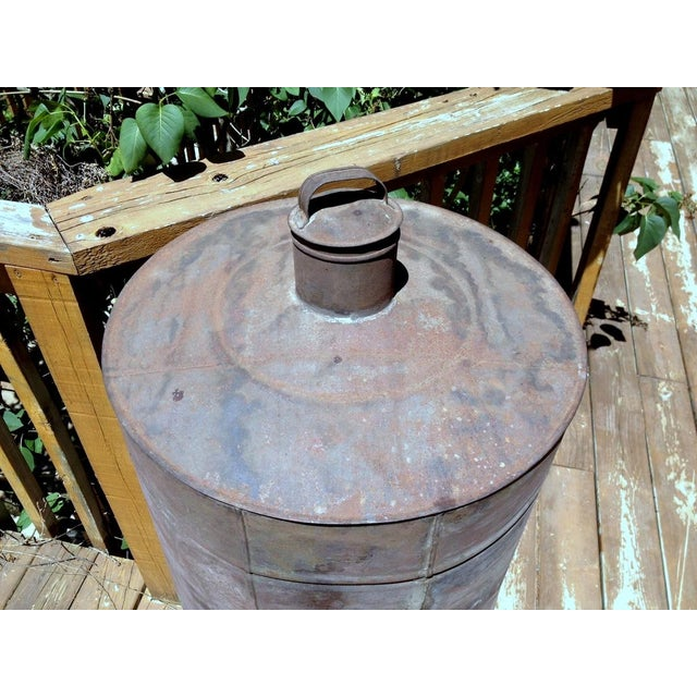 Late 19th Century Antique 1880s Naphtha Barrel with Spigot For Sale - Image 5 of 6