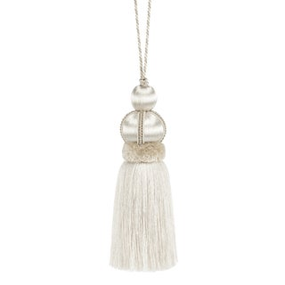 """Ivory Key Tassel With Cut Ruche - Tassel Height 5.75"""" For Sale"""