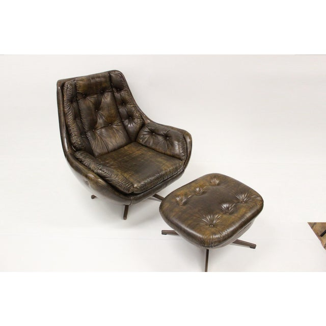 Mid Century Modern Carter Lounge Chair and Ottoman For Sale - Image 9 of 13