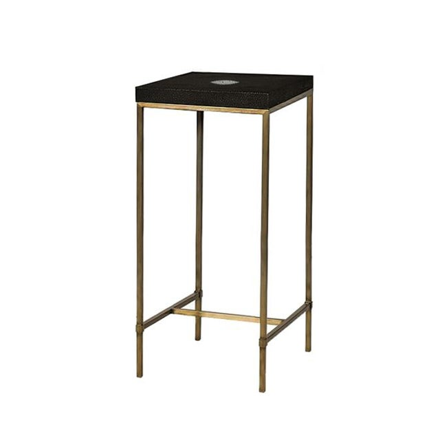 Genuine Shagreen Accent Table For Sale - Image 4 of 4