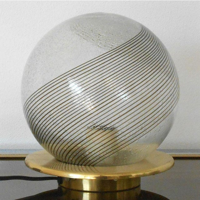 Contemporary Italian Swirl Lamps by Venini - a Pair For Sale - Image 3 of 5