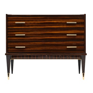 French Mid-Century Macassar Chest For Sale