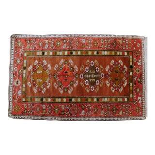 "Vintage Turkish Wool Rug4'8""x 7'4"" For Sale"