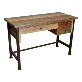 Crafters and Weavers Bayshore 3 Drawer Writing Desk For Sale