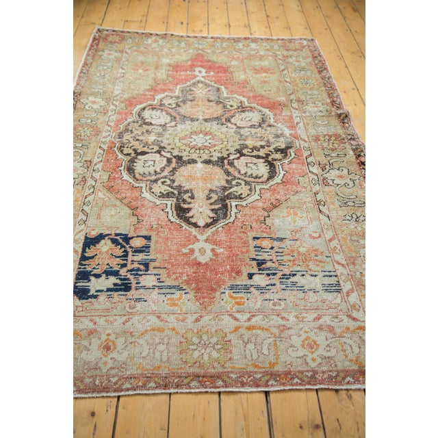 Textile Vintage Oushak Carpet - 4′10″ × 8′2″ For Sale - Image 7 of 10
