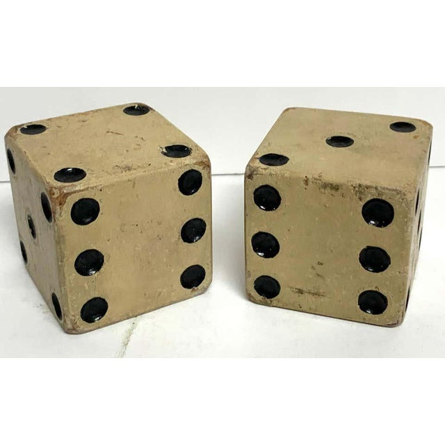 Scale Vintage Wooden Casino Dice - a Pair For Sale - Image 4 of 7