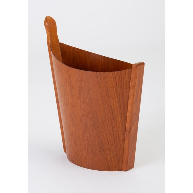 1960s Asymmetric Teak Waste Basket by Westnofa For Sale - Image 5 of 13