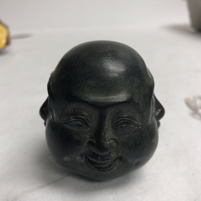 1980s Chinese Metal Oriental Four Face Buddha Figurine - Small For Sale - Image 4 of 6