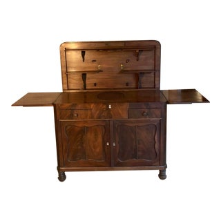 Antique Feathered Mahogany Gentleman's Chest For Sale
