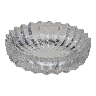 Vintage Orrefors Fluted Crystal Dish Bowl For Sale
