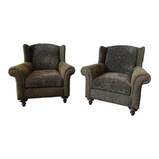 Modern Paladin Wingback Chairs- A Pair For Sale