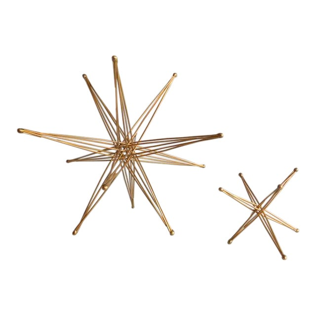 Vintage Wire Folding Kostick Stars - a Pair For Sale