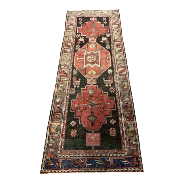 1950s Vintage Persian Runner Rug - 3′4″ × 9′ For Sale