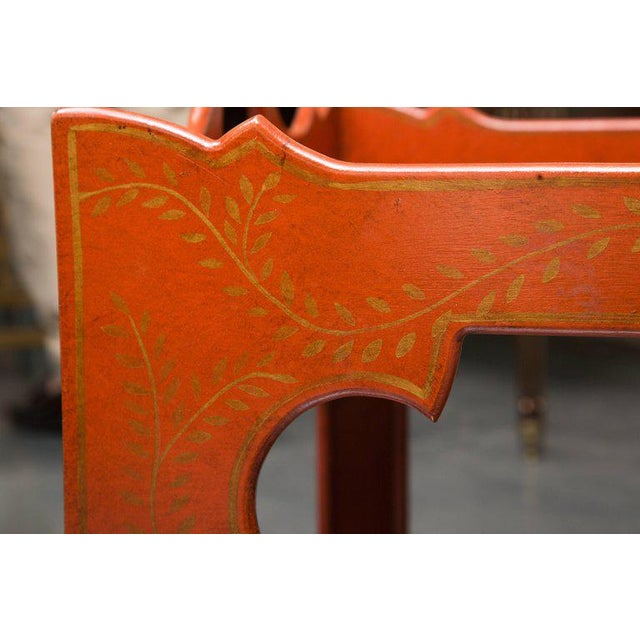 Gold Painted, Decorated, and Lacquered Tray Table For Sale - Image 8 of 10