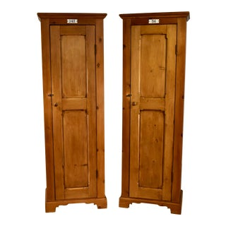 Pair of English Locker Cabinets For Sale