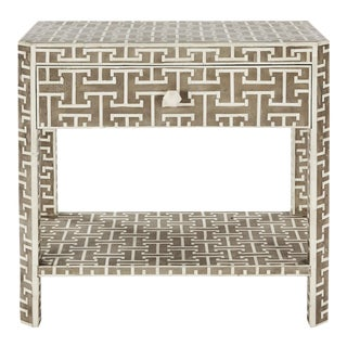 Hermes Inlaid Bone Side Table For Sale