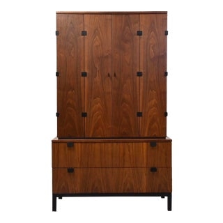 Milo Baughman for Directional Armoire Mid Century Modern Dresser For Sale