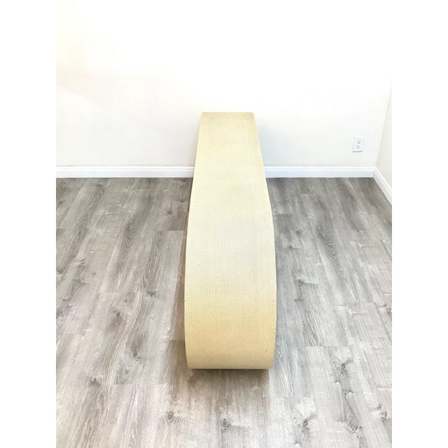 Mid Century Cream Raffia Console/Sofa Table For Sale - Image 9 of 11