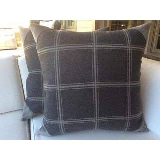 """Colefax and Fowler """"Lisle Check"""" Wool Pillows - a Pair Preview"""