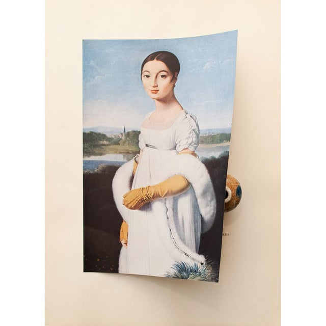 """Neoclassical Jean-Auguste-Dominique Ingres """"Mademoiselle Riviere"""", 1940s Swiss Photogravure For Sale - Image 3 of 7"""