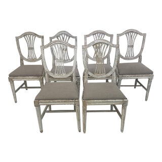 19th Century Swedish Chairs - Set of 6 For Sale