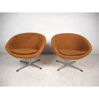 Swedish Modern Swivel Pod Chairs by Overman Ab Preview