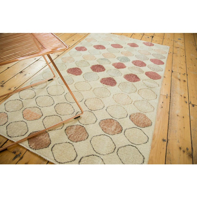"Vintage Distressed Oushak Rug Runner - 3'3"" x 5'11"" - Image 3 of 9"