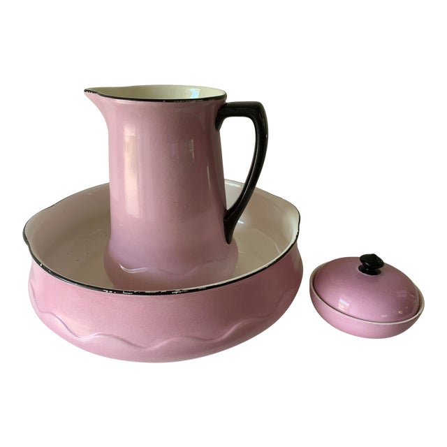 Early 20th Century Ludwig Wessel Wash Basin, Pitcher & Soap Container, 3 Pieces For Sale